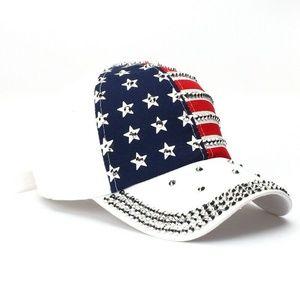 USA American Flag Print Hat